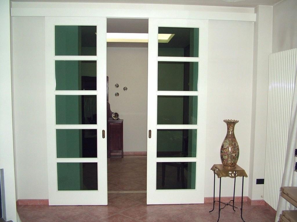 Doppia Porta Scorrevole : Macs infissi pesaro porte per interno in legno e vetro